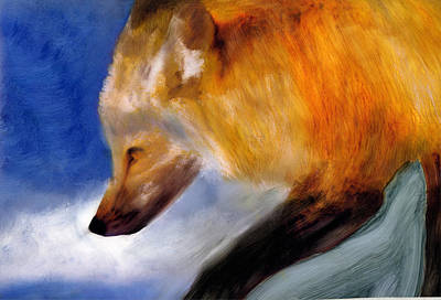 Art Print featuring the painting Stepping Lightly by FeatherStone Studio Julie A Miller