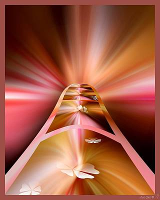 Abstract Shapes Janice Austin Royalty Free Images - Stepping Off the Path Royalty-Free Image by Linda Galok
