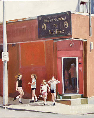 Southie Painting - Stepping Out by Deb Putnam
