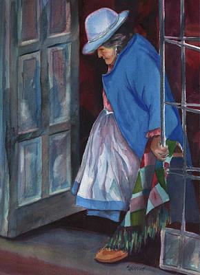 Peru Painting - Stepping Out by Marsha Elliott