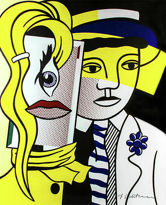 Photograph - Stepping Out - Roy Lichtenstein - Signed by Doc Braham - In Tribute to Roy Lichtenstein