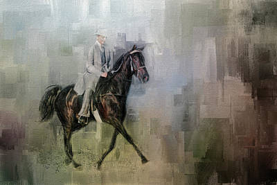 Painting - Stepping Out Tennessee Walking Horse Art by Jai Johnson