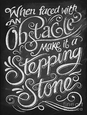 Stepping Stone Art Print by Blackwater Studio