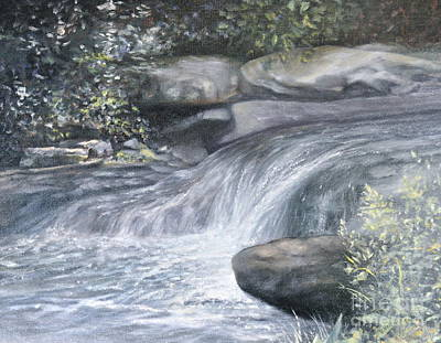 Cascading Painting - Stepping Stones by Penny Neimiller