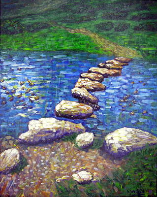 Painting - Stepping Stones by Shirley Wellstead