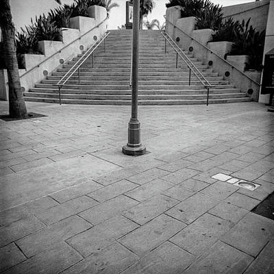 Lomo Photograph - Steps And Light Pole Parking Structure by YoPedro