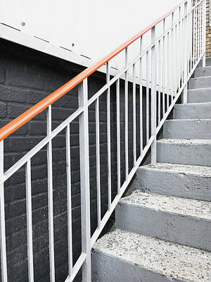 Steps And Railings Art Print