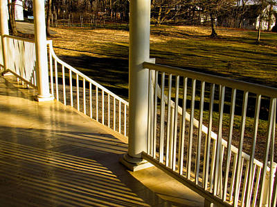 Photograph - Steps And Shadows At Thomas Cole House In Catskill by Nancy De Flon