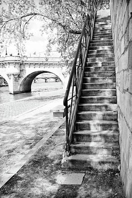 Photograph - Steps By Pont Neuf, Paris by Jean Gill