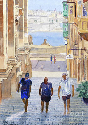 Steps Art Print by Godwin Cassar