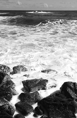 Steps In To The Sea Art Print by Kerri Ligatich