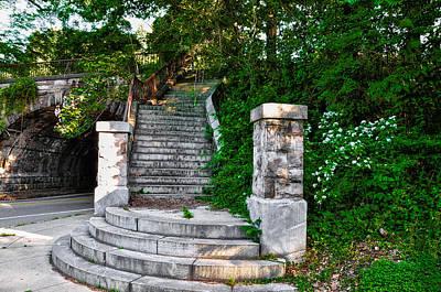 Steps In West Fairmount Park - Philadelphia Art Print by Bill Cannon