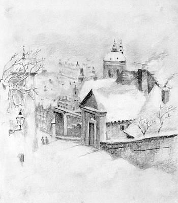 Steps In Winter Original by Dagmar Pollack