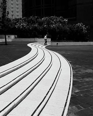 La Downtown Photograph - Steps by Joseph Smith
