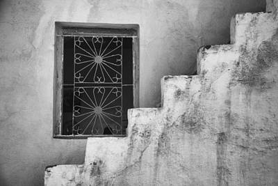 Photograph - Steps Morocco - Black And White 2 by Kathy Adams Clark