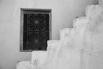 Photograph - Steps Morocco - Black And White by Kathy Adams Clark
