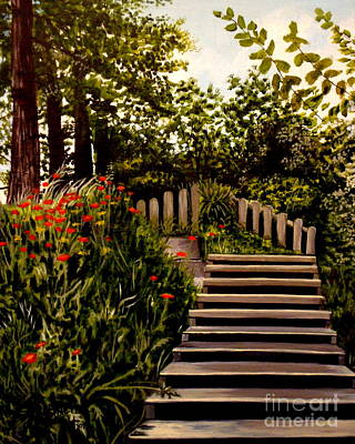 Painting - Steps Of Monte Rio by Elizabeth Robinette Tyndall