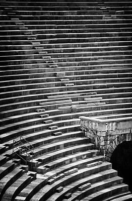 Veronese Photograph - Steps Of Verona Arena  by Carol Japp