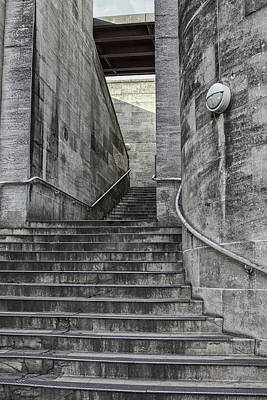 Photograph - Steps On The Embankment, London by Christopher Rees