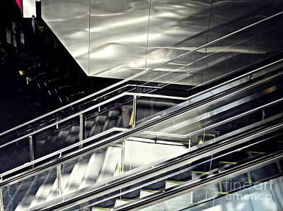 Architectural Abstract Photograph - Steps by Sarah Loft