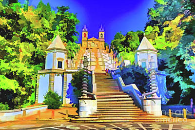 Digital Art - Steps To Cathedral by Rick Bragan