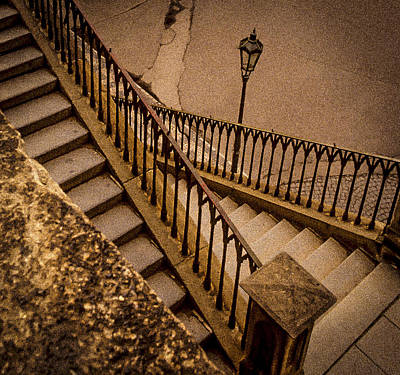 Steps To Charles Bridge Art Print by Robert Meyerson