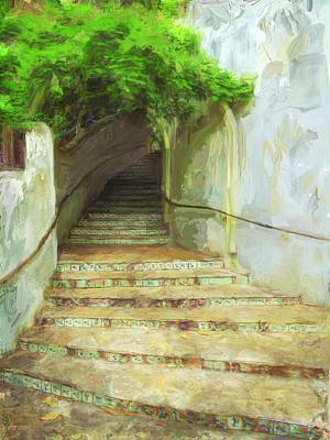 Steps To La Villita Art Print