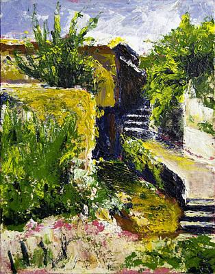 Steps To San Martin Art Print by Robert Sako
