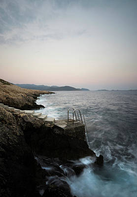 Swim Ladder Photograph - Steps To Sea  by Michael Robbins