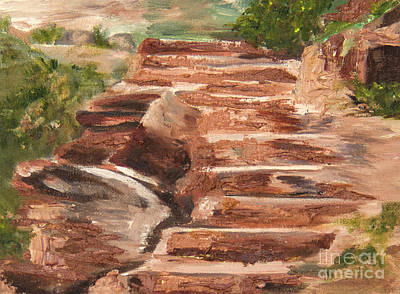 Painting - Steps To Zion by Nila Jane Autry