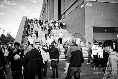 steps up to 96 avenue at the new main stand at Liverpool FC anfield stadium Liverpool Merseyside UK Art Print by Joe Fox