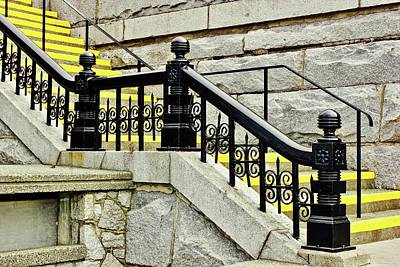 Photograph - Steps Yellow Accents by Brian Sereda