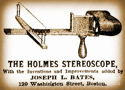 Stereoscope Advertisement   Original by John Malone