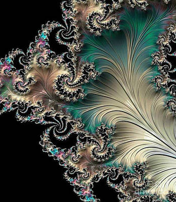 Digital Art - Sterling Feather by Vicki Lynn Sodora
