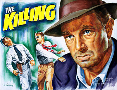 Kubrick Painting - Sterling Hayden - The Killing 1956 - Stanley Kubrick by Spiros Soutsos