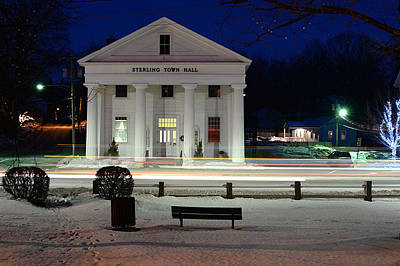 Photograph - Sterling Town Hall by Robert McKay Jones