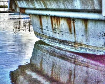 Photograph - Stern Reflection 2384 by Jerry Sodorff