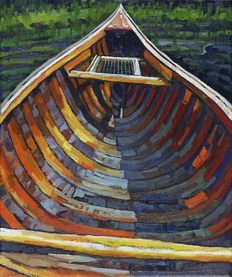Voyageurs Painting - Stern Seat by Phil Chadwick