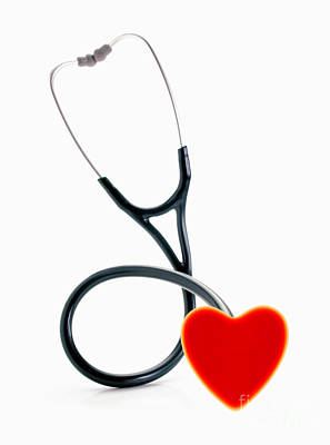 Photograph - Stethoscope With Heart by George Mattei