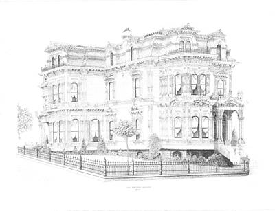 Edward Williams Drawing - Stetson Mansion by Edward Williams