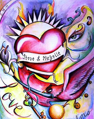 Steve And Michelle Art Print
