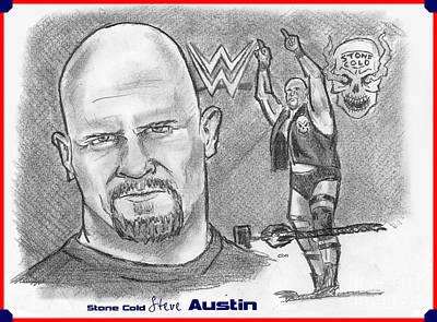 Steve Austin Art Print