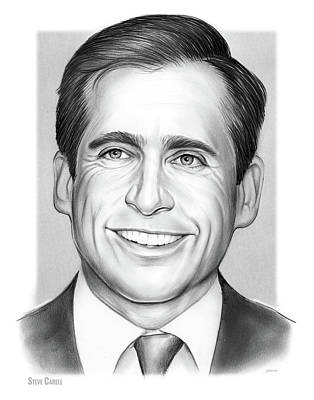 Drawing - Steve Carell by Greg Joens