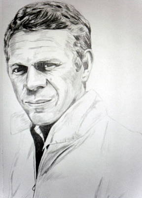 Steve Mcqueen Drawing - Steve by Conor O Kane