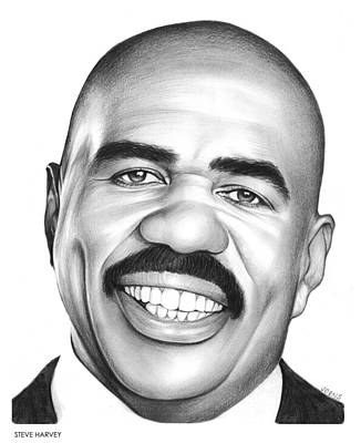 Celebrities Wall Art - Drawing - Steve Harvey by Greg Joens