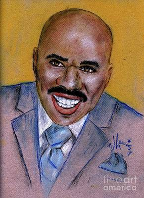 Drawing - Steve Harvey by P J Lewis