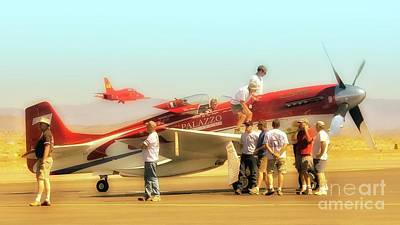 Reno Air Races Photograph - Steve Hinton And Strega Posse Take A Break       by Gus McCrea