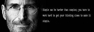 Complexity Digital Art - Steve Jobs .  .  .  Simple by Daniel Hagerman