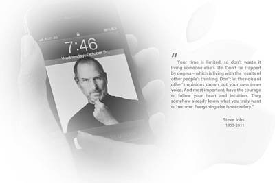 Photograph - Steve Jobs 2 by Anthony Rego