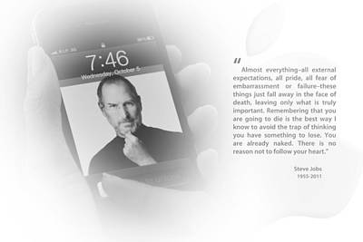 Photograph - Steve Jobs 3 by Anthony Rego